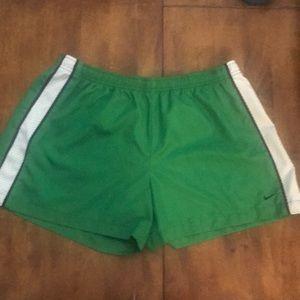 Green Nike gym shorts